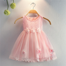 Free Shipping Cotton lining1-5 Years Girl Party Dress 2019 New Arrival Ivory Flower Dresses For Weddings Tulle Infant Gowns