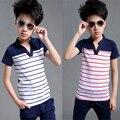 2015 novo estilo de moda chegada V-neck de manga curta roupas infantis menino 10 anos blouse bermudas compressao infatil