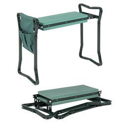 Chaise de jardin pliante genouillère et siège with1 outil Bonus tabouret de jardin en acier inoxydable avec EVA coussin à genoux portant 150KG