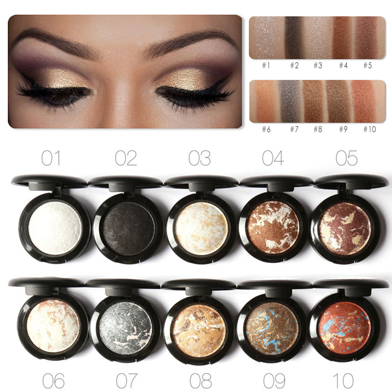 Focallure Brand Glittle Eye Shadow Contour Makeup Kit Waterproof Shimmer Baked Nude Eye Colors Eyeshadow Glittle Palette