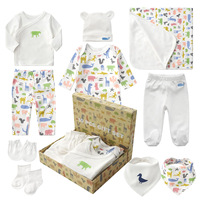 10pcs Baby Products Boy And Girls Full Moon Fashion Sets Spring And Autumn Baby Best Gift Newborn baby clothes Unisex Set Cotton