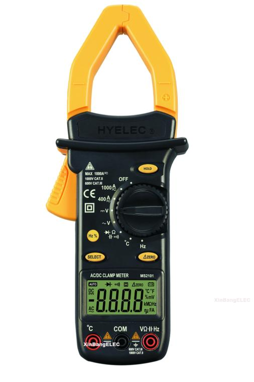Digital Clamp Meter AC DC Current Voltage Resistance Capacitance Frequency Temperature Auto Range Multimeter