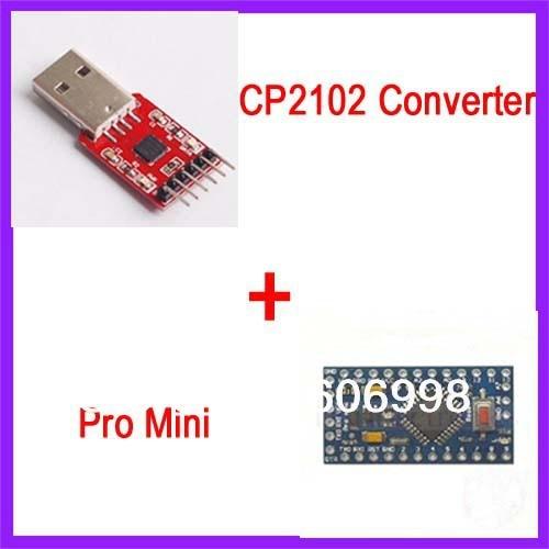 CP2102 Converter Module + ATMEGA328P 5V/16M Pro Mini Module Improved Version For Arduino
