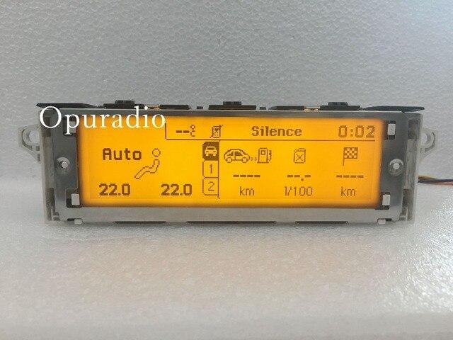 12 Pin coche amarillo pantalla USB y Bluetooth Dual-zona de pantalla del monitor para Peugeot 307, 407, 408 citroen C4 C5
