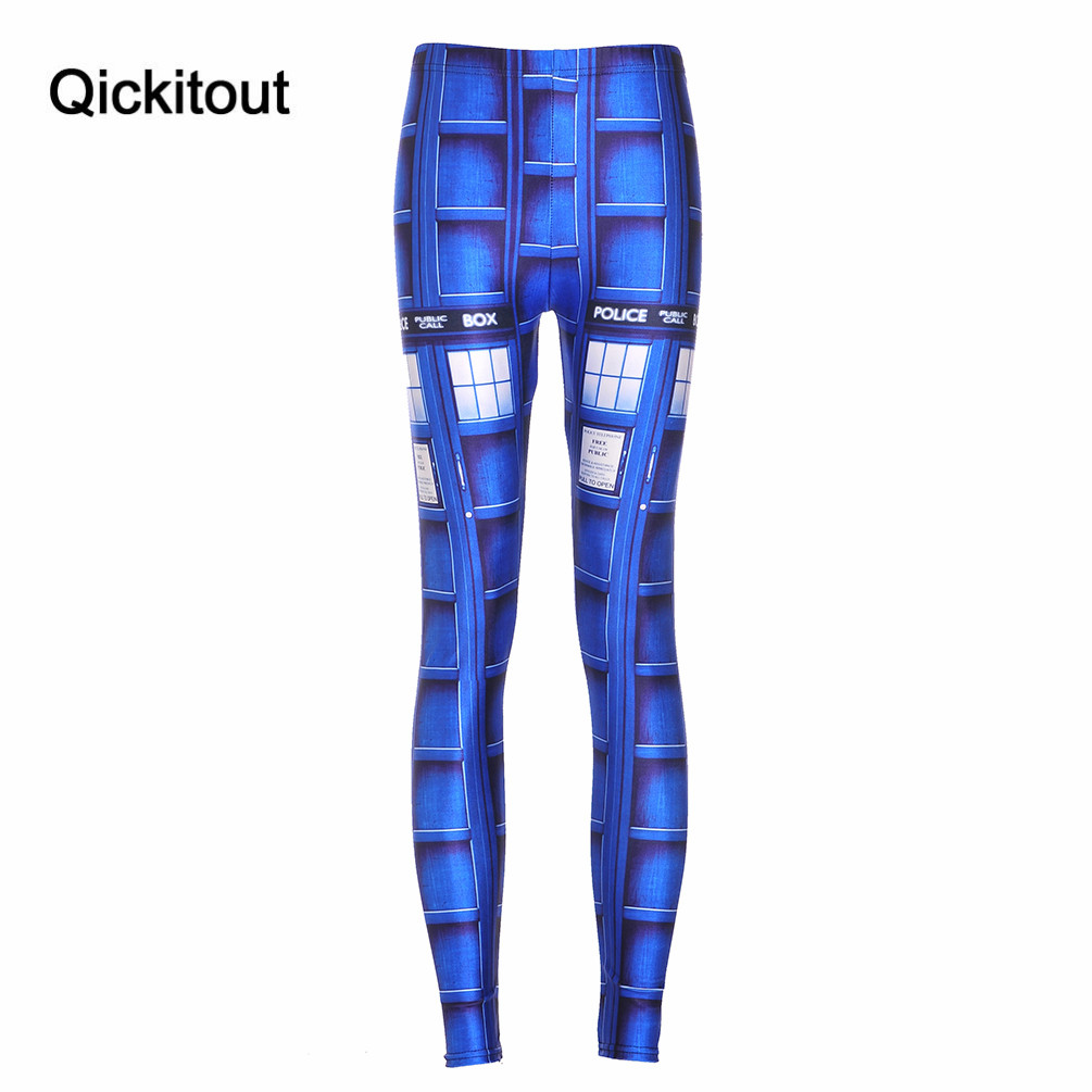 Summer Styles Sexy Hot Women New Pants Womens Trousers Fashion Blue Tardis HWMF Leggings Printing Pant Capris Fitness