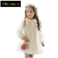 שמלות נסיכת בנות שמלת הערב מקרית מפלגת האביב Autmn חמוד תינוקת בגדי וינטג 'פעוטות ילדה ביגוד 2-8 Yrs