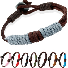 Minimalism European and American Women Mens Handmade Woven Leather Bracelet Couple Fashion Jewelry Accessories