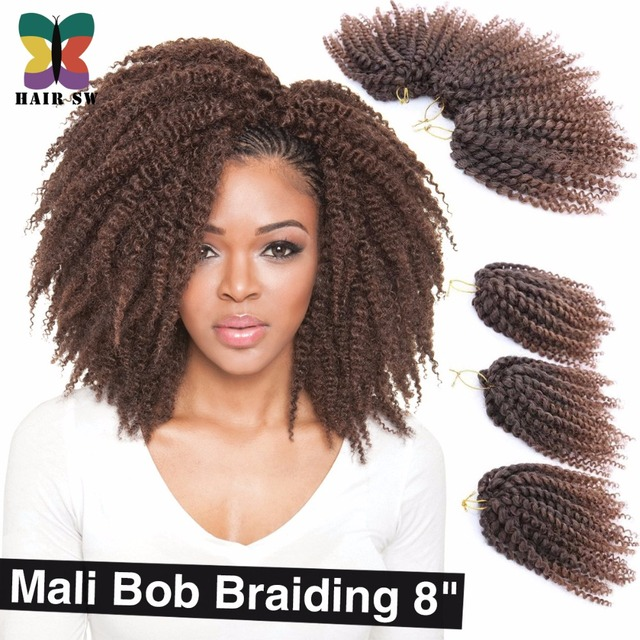 3pcs Lot Ombre Wand Curls Mali Bob Twist Crochet Braids Short Hair