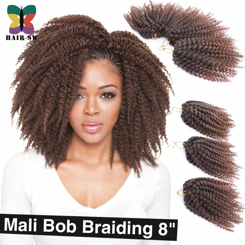 .com : Buy Ombre wand curls Mali Bob Twist Crochet braids short ...