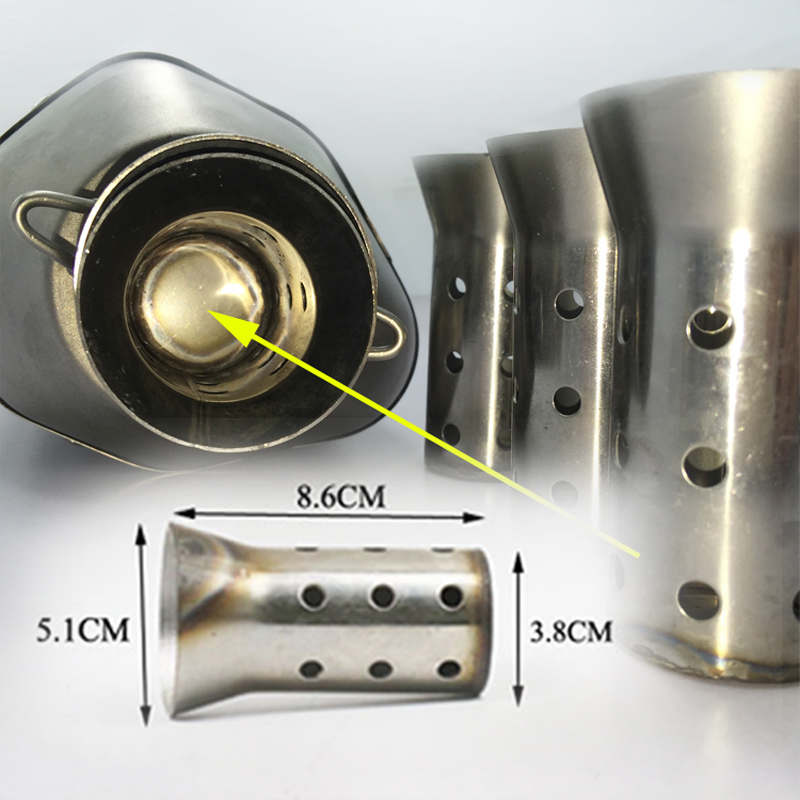 51MM Universal Motorcycle Exhaust Can Muffler Insert Baffle DB Killer Silencer Easy installation, no tools required
