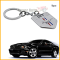 (5) Chrome Finish Pony Horse Key Chain Fob Ring Keychain For Mustang GT 500 Cobra