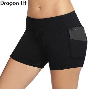 Dragon Fit New Workout Sport Shorts Women Summer Elastic Waist Quick Dry Gym Yoga Shorts Female Fitness Running Shorts Female