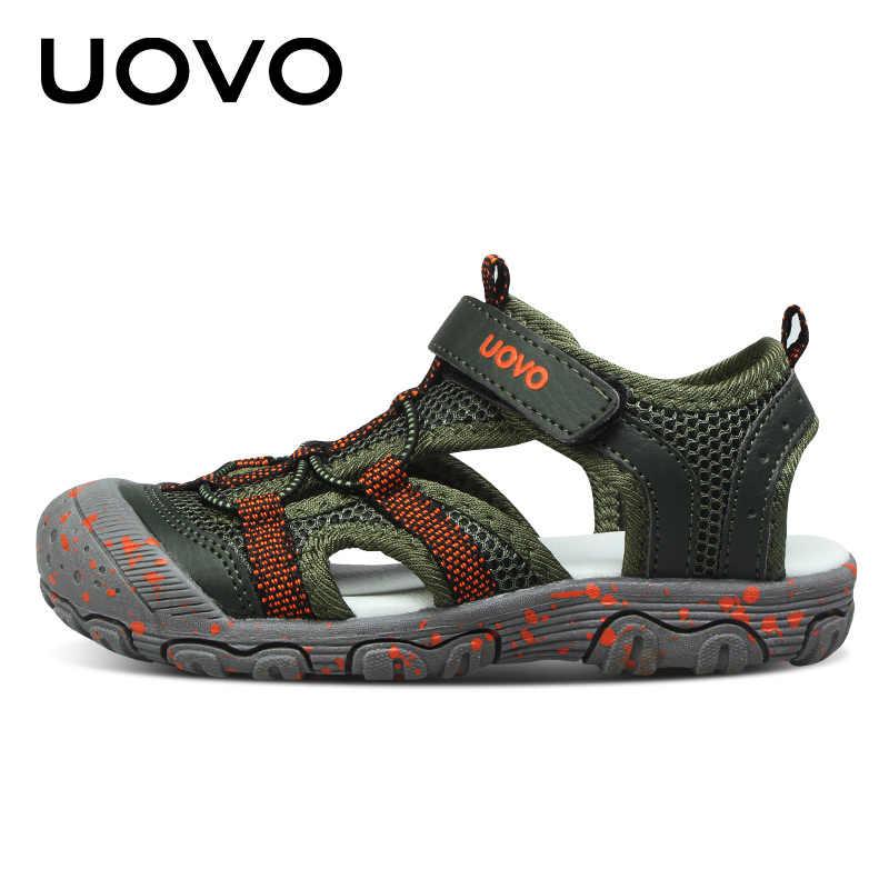 32bcc845c Подробнее Обратная связь Вопросы о UOVO/2019 брендовая Летняя детская обувь,  брендовые сандалии с закрытым носком для маленьких мальчиков, ...