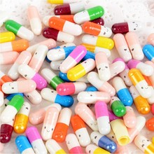 50 pcs Cute Expression Colorful Love Note Capsules