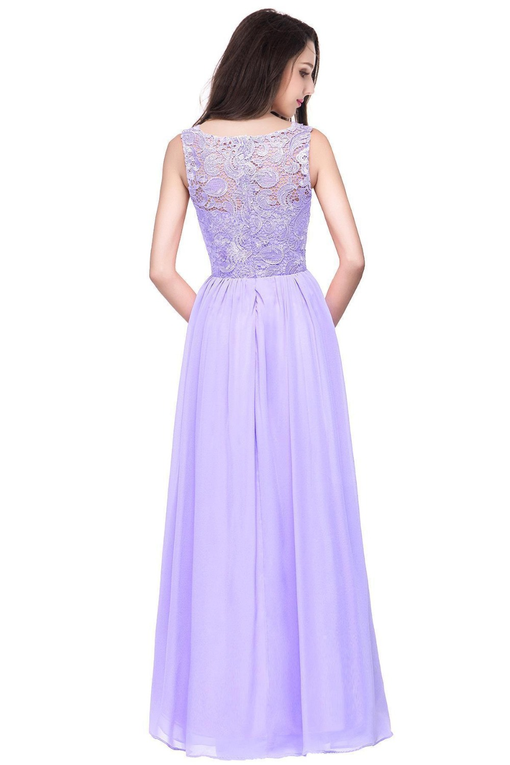 Aliexpress buy misshow 10 colors robes de demoiselle d aliexpress buy misshow 10 colors robes de demoiselle dhonneur a line long lilac bridesmaid dresses 2017 chiffon lace prom formal party gown from ombrellifo Image collections