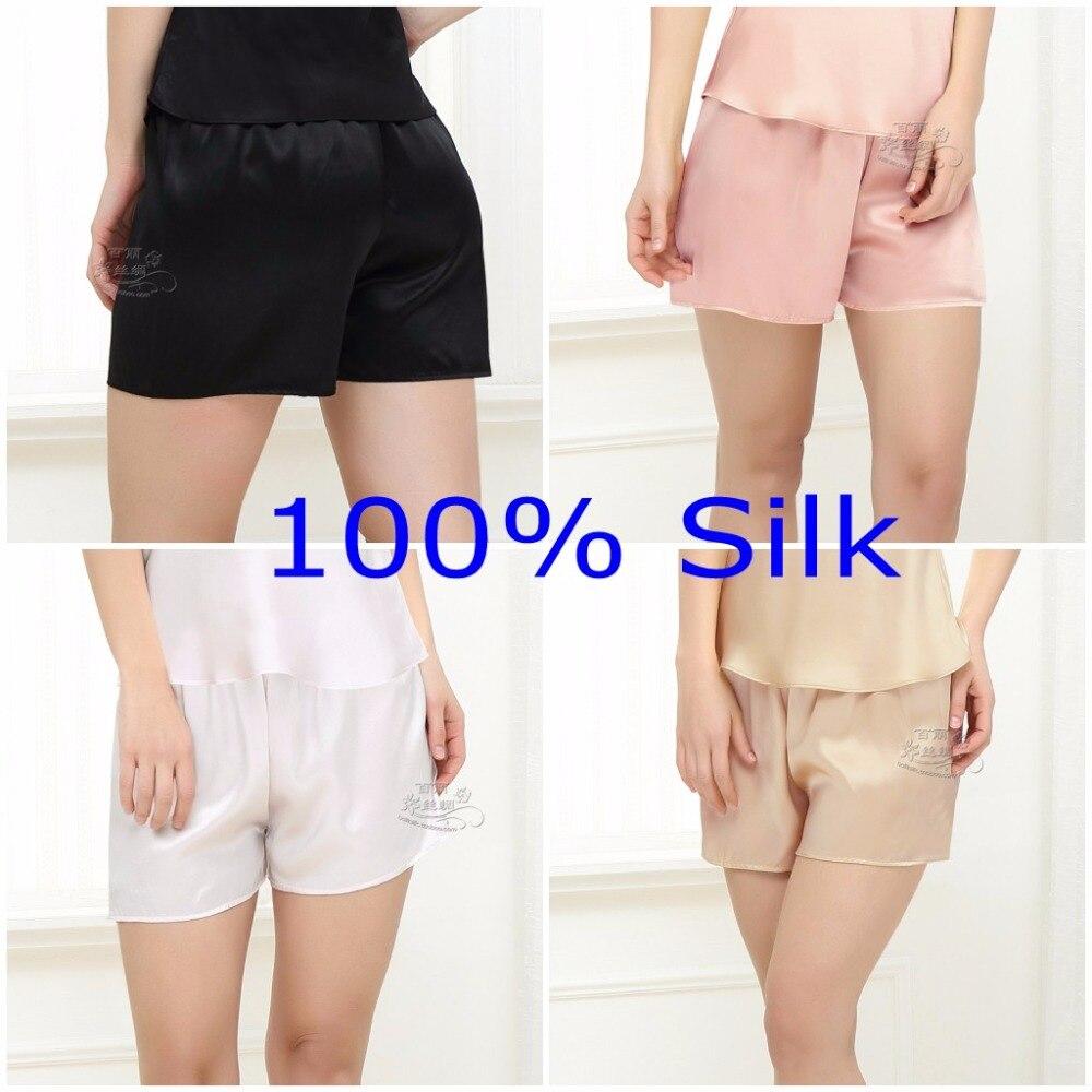 Женские шорты для сна из 100% натурального шелка, ночное белье, леггинсы YM003