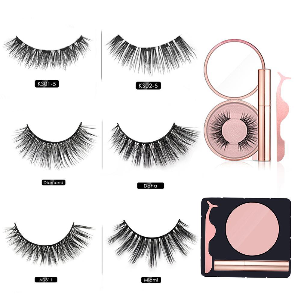 Eyeliner magnético eyeashes kit impermeável longa duração eyeliner cílios postiços 40p