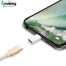 Ascromy USB C Type-C Cable Charger Adapter Converter For iPhone XS Max XR X 8 7 6 Plus 5 se Data Sync Charging Cabo Accessories(China)