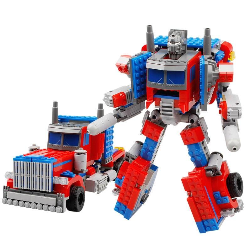 KAZI Robot Car Transformable Action Figure Block DIY Building Model Set Bricks Lepin Children Educational  Toys Gifts combelle transformable 3089
