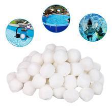 Белый шар для чистки бассейна фильтр волоконный шар фильтр легкий высокопрочный долговечный бассейн чистящие средства