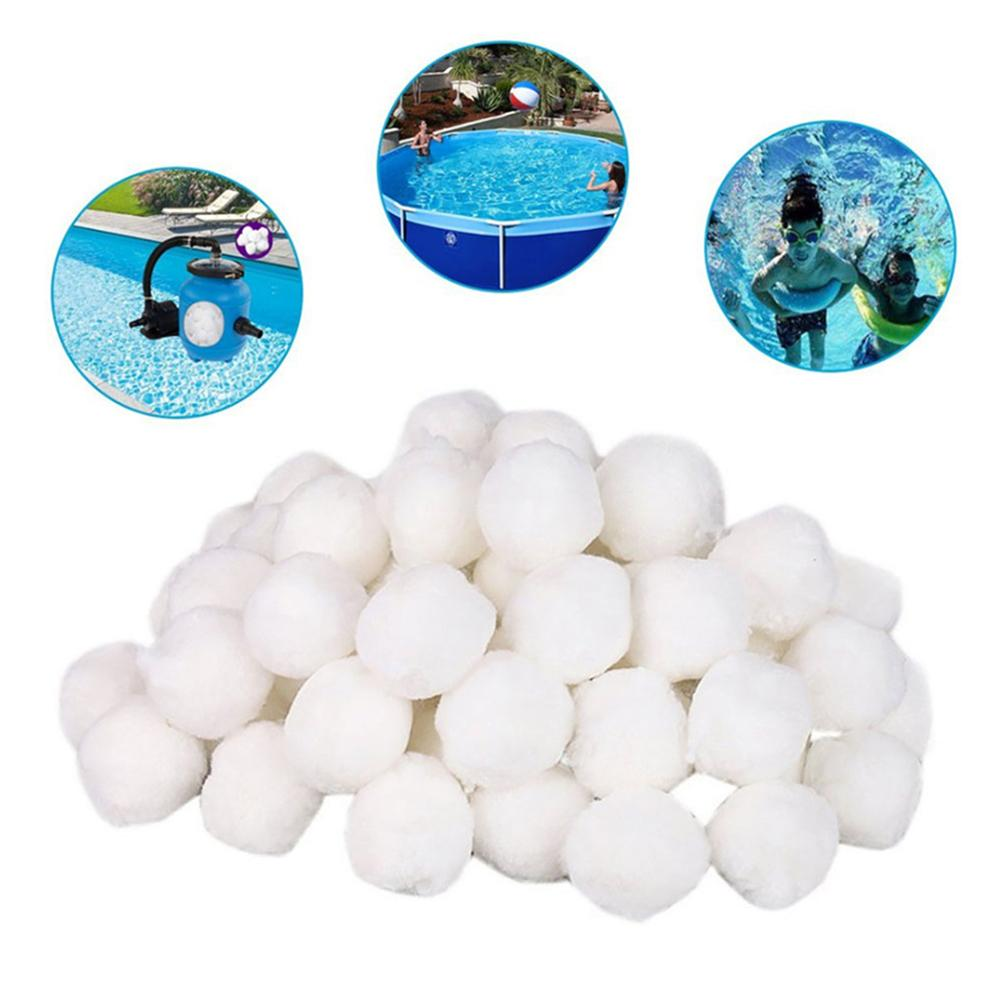 White Swimming Pool Cleaning Ball Filter Fiber Ball Filter Lightweight High Strength Durable Swimming Pool Cleaning Tools