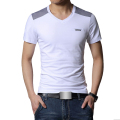 Brand Clothing 2017 T Shirt Men Tops Tees V-neck Cotton Summer Fashion Slim Fit Short Sleeve Casual Tshirt homme