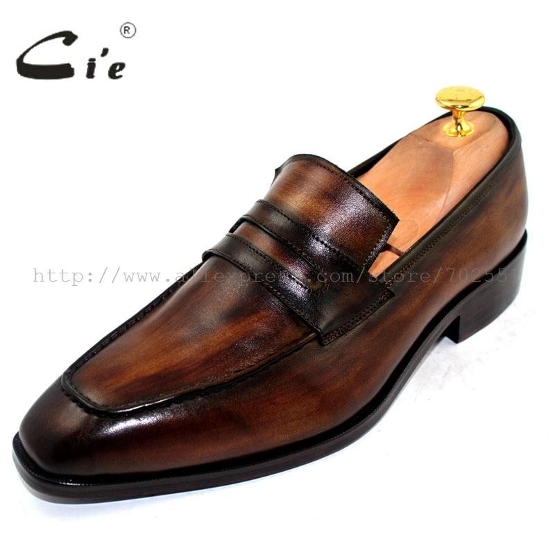 El Zapato Cie Profundo Barcos Suela Hechos en Hombres 24 A Superior Slip Brown Holgazán Interior Libre Becerro Transpirable Envío Patina No Mano De Los Fw4dwq