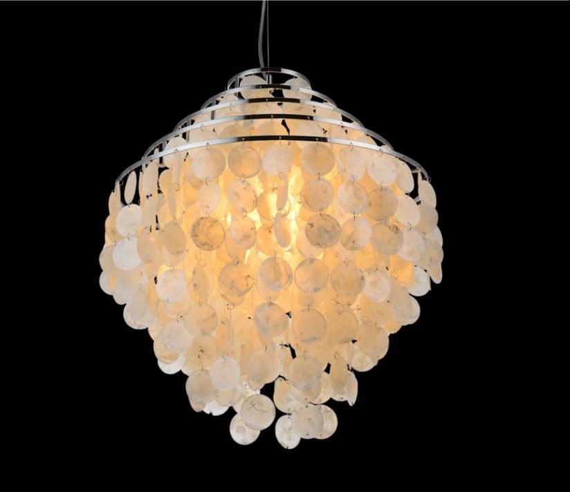 Fantastic Nordic Pastoral Seashell Pendant Lights Fixture 5 Circles Natural  FI47