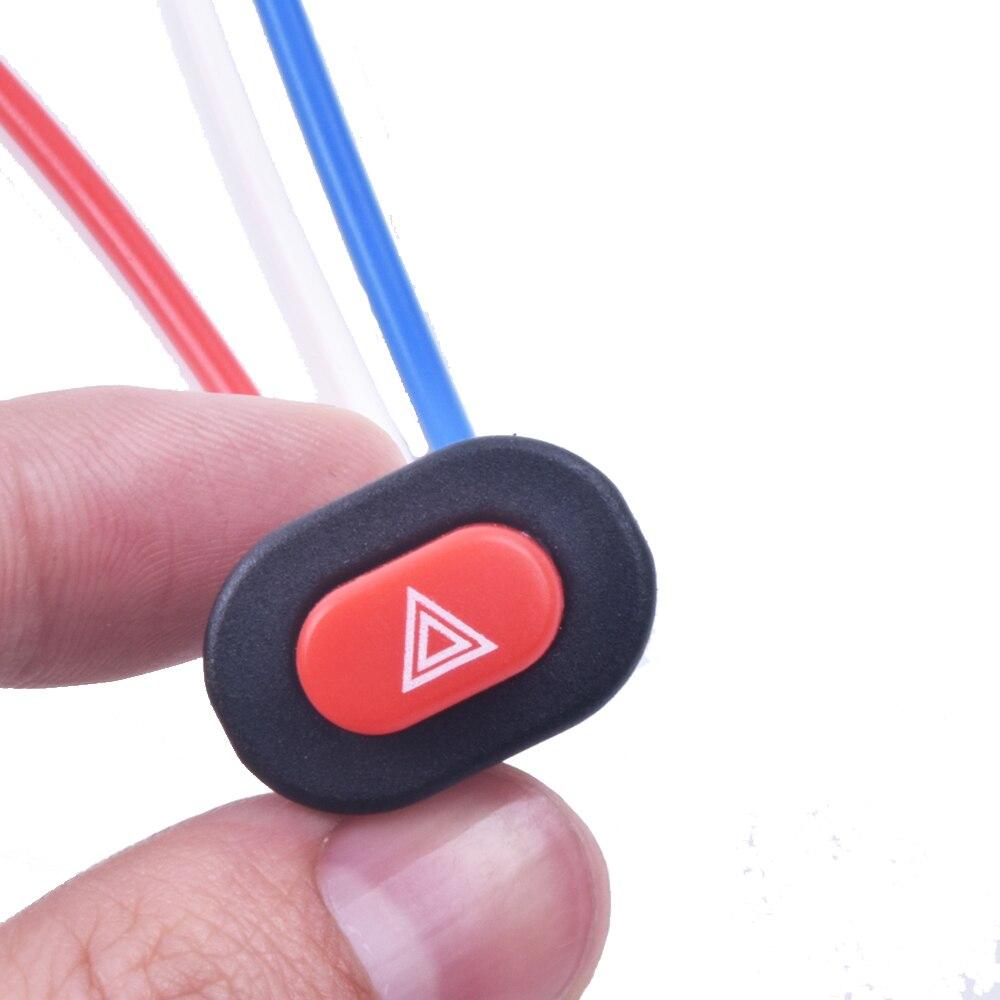 МОТОЦИКЛ Переключатель опасности кнопку выключатель света двойная вспышка Предупреждение аварийной лампы сигнала Flasher с 3 провода со встро... ...