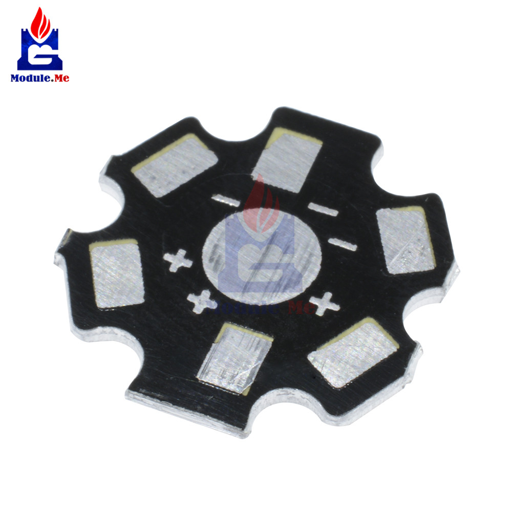 10PCS 20MM 1W 3W 5W high Power LED Universal Aluminum Plate Heat Sink  Black D