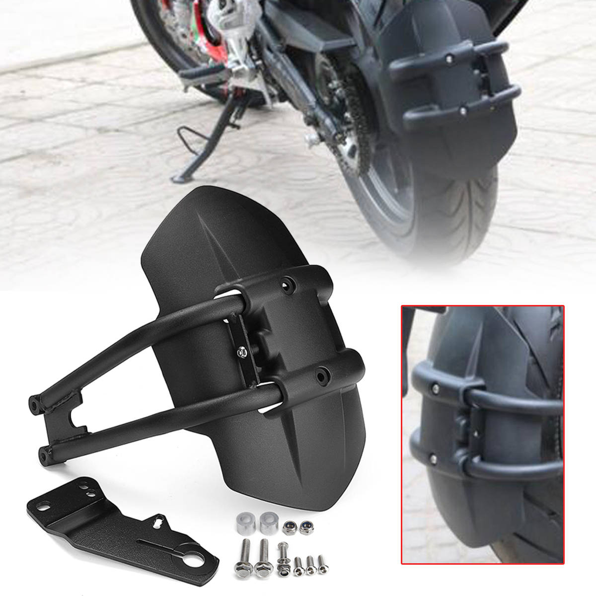купить Motorcycle Fender Rear Cover Motorcycle Back Mudguard Splash Guard For for Honda NC700/NC750D/CB1300/CB400 по цене 1882.85 рублей