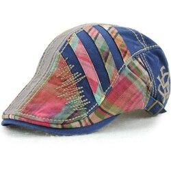 1 sztuk 2018 nowy szwy nici bawełniane czapki wiosna lato europejska marka mężczyźni berety czapki 5 kolory 8639