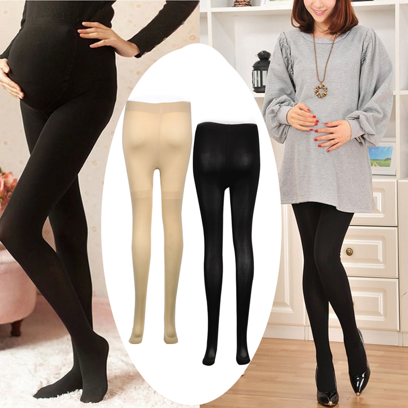 120D Women Pregnant Socks Maternity Hosiery Solid Stockings Tights Pantyhose