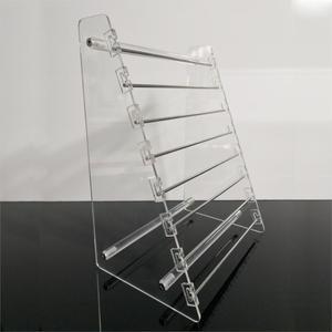 Image 2 - Прозрачная вращающаяся Европейская Подвеска для бусин, держатель для дисплея, браслет, серьги подвески, ювелирные изделия, витрина Shlef подвесной Органайзер