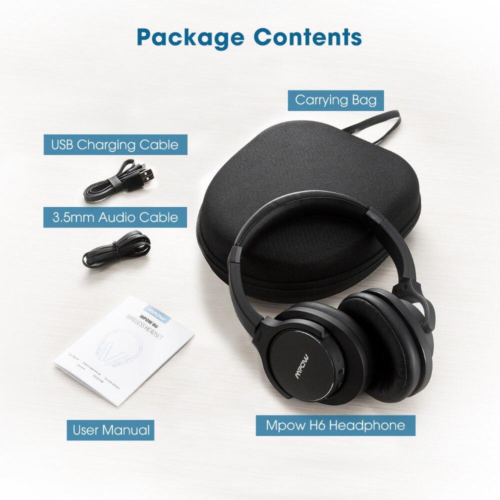 Originale Mpow H6 ANC Cuffie Senza Fili Bluetooth Con Il Mic Sacchetto  Carring Auricolare Bluetooth Wireless Wired Cuffia Per I Telefoni in Originale  Mpow ... 6097cc90ecf0