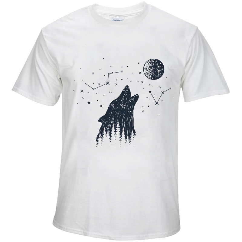 BTFCL Creative Starry Animal T Shirt Summer Men 39 s Personality Printed T Shirt Fashion Male Harajuku Large Size Tops Tee Clothes in T Shirts from Men 39 s Clothing