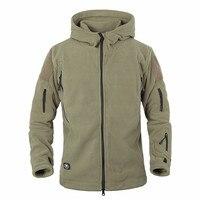 Casaco tático do exército uniforme militar escudo macio velo inverno quente jaqueta com capuz roupas térmicas masculinas casuais à prova de vento hoodies|tactical coat|soft shell|jacket men -