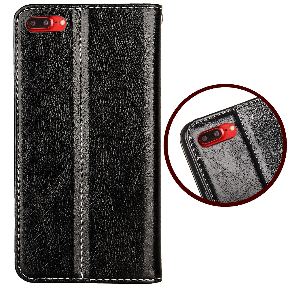 Luxury PU Leather Flip Cover For iphone X 8 8plus Case Stand For iphone X 6 6S 6plus 7 7plus 5 5S se Fundas