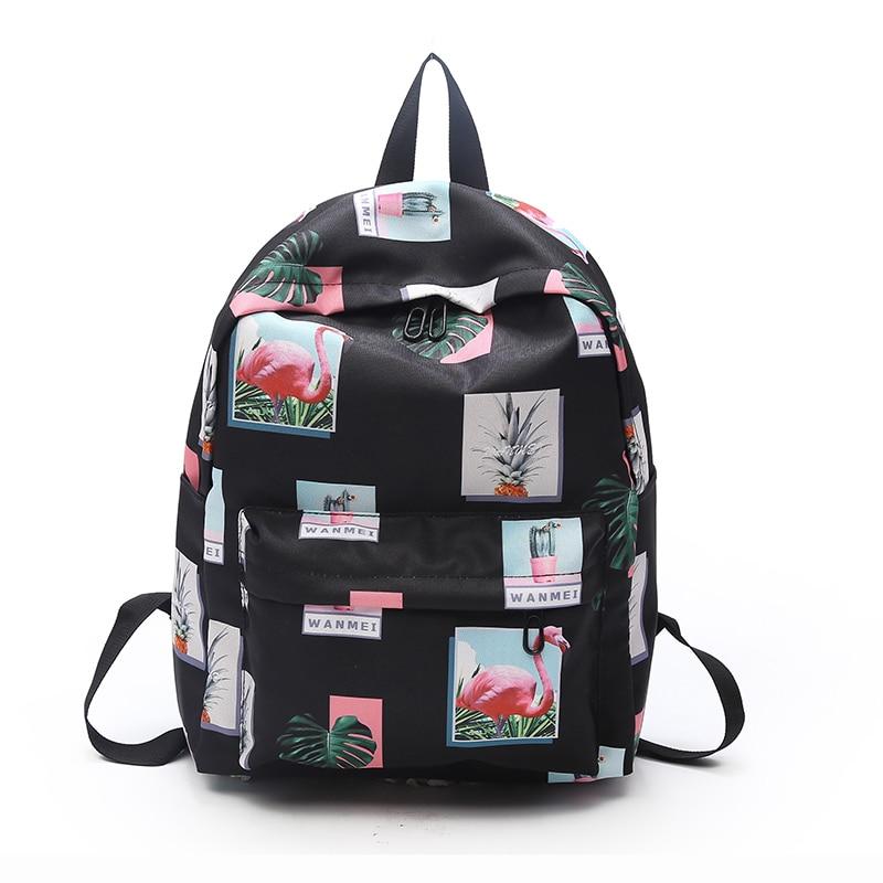 2018 Fashion Flamingo printing Backpack for Teenage Girls plecak sac a dos femme school bags women Backpack Mochila Feminina