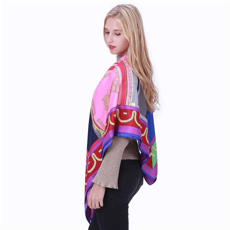 IEBŪVĒŠANAS LĒMUMA 100% zīda šalle sieviešu ģeometriskiem - Apģērba piederumi - Foto 5