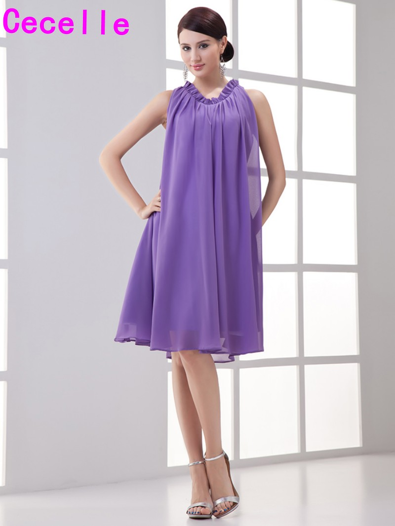 Lavender simple summer informal bridesmaid dresses boho for Casual wedding party dresses