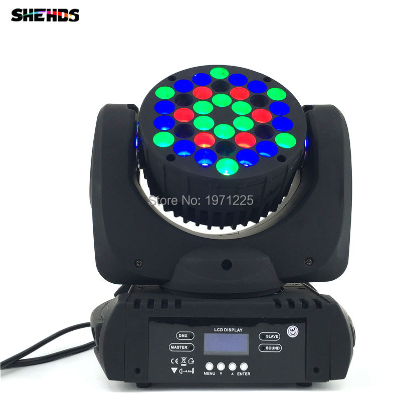 2PCS 2017 The Latest 36X3W Beam Moving Head Light RGBW LED Wash Moving Stage Lighting