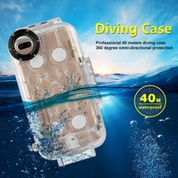 40m/130ft Professional Waterproof Diving Protective For iPhone X 7/8 plus Housing Photo Video Underwater Transparent Cover Case