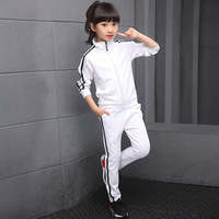 Girls Boys Tracksuits Spring Autumn Kids Sports Suits Coats+Pants 2pcs School Uniform 4 6 8 10 12 14 Years Children Clothes Sets