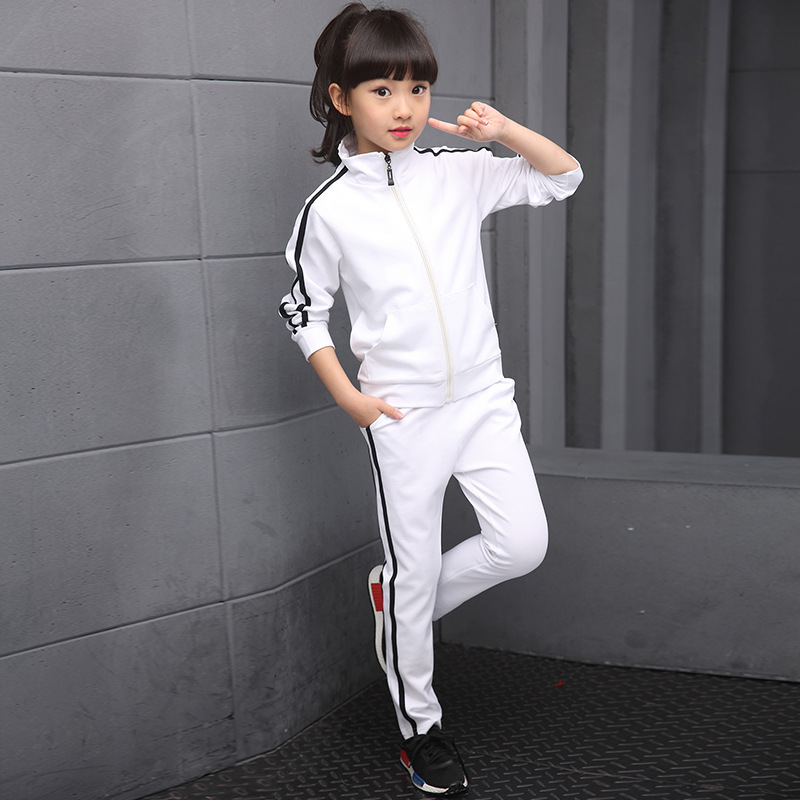 Girls Boys Tracksuits Spring Autumn Kids Sports Suits Coats+Pants 2pcs School Uniform 4 6 8 10 12 14 Years Children Clothes Sets цены