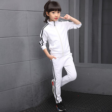 Girls Boys Tracksuits Spring Autumn Kids Sports Suits Coats+Pants 2pcs School Uniform 4 6 8 10 12 14 Years Children Clothes Sets boys girls sport suits casual children clothing set spring autumn high quality kids clothes 4 5 6 7 8 9 10 year tracksuits