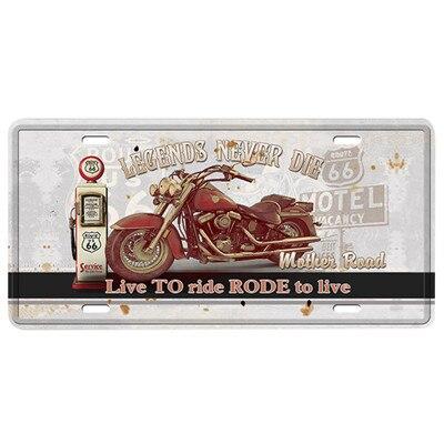Автобус мотоцикл автомобиль металлический номерной знак винтажный домашний декор жестяная вывеска Бар Паб декоративный металлический знак для гаража металлическая живопись табличка - Цвет: MPA2619
