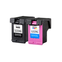 2pcs LuoCai Compatible Ink Cartridges For HP 122 Deskjet 1000 1050 2000 2050 3000 3050A 3052A ns23 Printers For HP122 XL 122XL