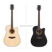 Hot New Quality 41 Cutaway Guitar Acoustic Folk Guitar Durbale 6 String Basswood Side Backboard 20