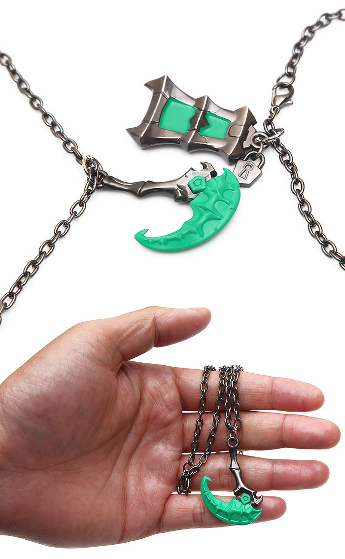 Novelty & Special Use Costumes & Accessories Emerald Game Lol Thresh Weapon Lol Zinc Alloy Cosplay Accessories Cool High Quality Lantern And Sickle Unisex Products Hot Sale